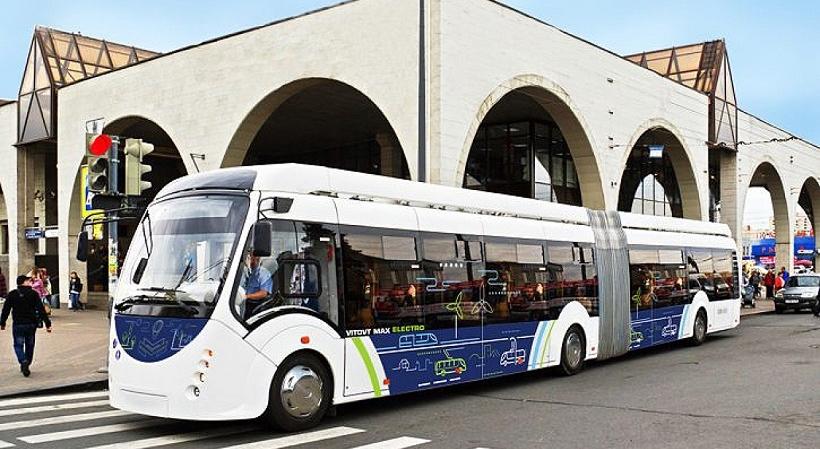 Новый электробус курсирует в Приморском районе Северной Столицы.